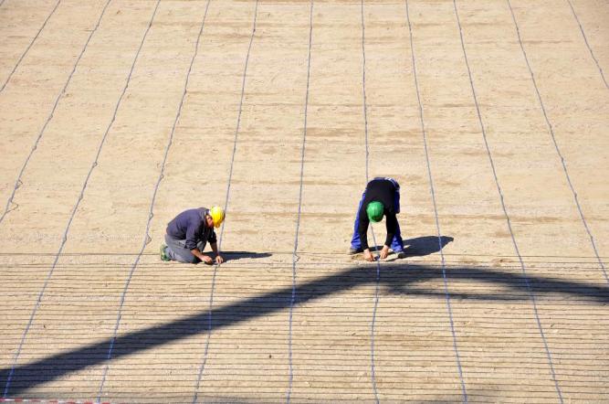 Instalație încălzire gazon Cluj Arena