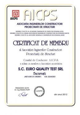 Certificat AICIPS Euro Quality Test