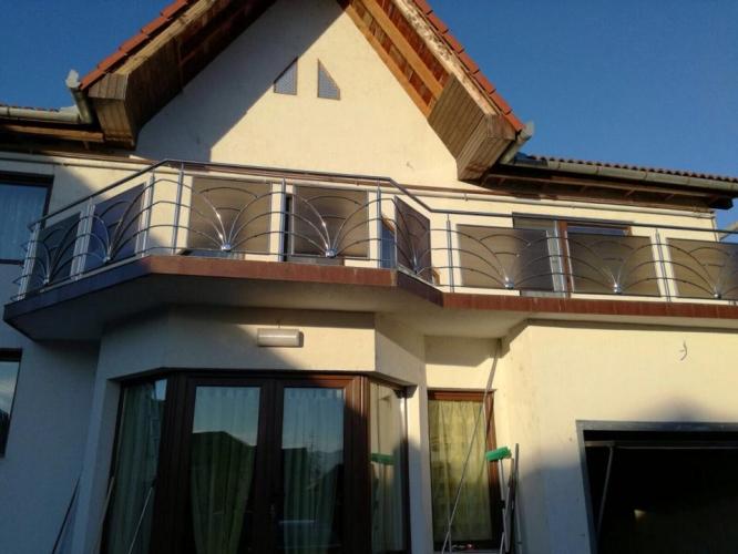 Balustrada inox cu policarbonat