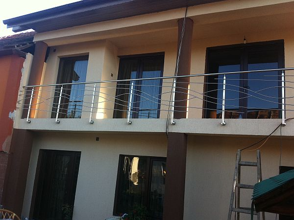 Balustrade inox cu 4 traverse